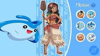 Disney Characters as Pokemon Trainers + Their Best Pokemon
