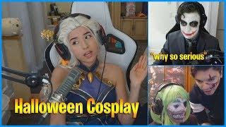 When Streamers Cosplay Halloween 2019... | LoL Daily Moments Ep 688