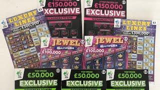 Video 98 - Exclusives, Luxury Lines & Jewel Multiplier Scratchcards????