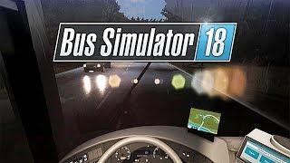 РАБОТА В ДОЖДЬ. НОВЫЙ РАЙОН - Bus Simulator 18 [#6]