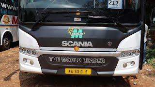Scania Bus Interior & Exterior MetrolinkHD MultiAxle|MorningStar Travels|Premium Luxury Bus AC India