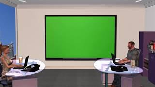 Green Screen - Chromakey of Meeting Discussion in Business Office