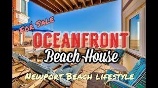 Home Tour Luxury Oceanfront Property Newport Beach, CA
