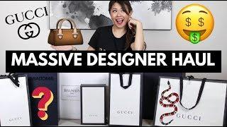 MASSIVE DESIGNER LUXURY HAUL & BAG REVEAL | ft. GUCCI, BALMAIN & more!