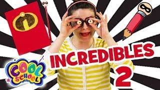INCREDIBLES 2 CRAFT - With Crafty Carol | Disney Crafts | Cool School | Crafts for Kids