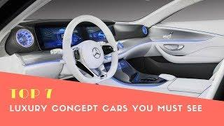 Top 7 Luxury Concept Cars You Must See - Phi Hoang Channel.