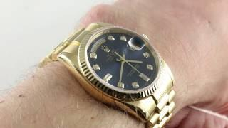Rolex Day-Date 118238 Luxury Watch Review
