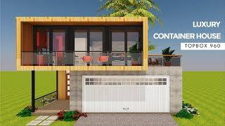Luxury Shipping Container 4 Bedroom House Design+ Floor Plans