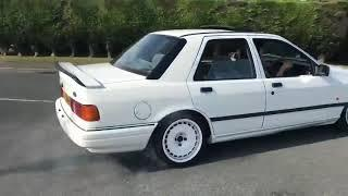 Sierra RS Cosworth wheel spinning 1st and 2nd gear