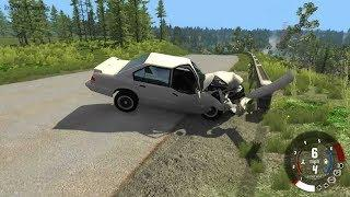 EXTREME CRASHES - RC Race High way Chase challenge - Beamng.Drive #449
