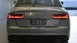 2018 Audi A6 4GL MY18 2.0 Tfsi Quattro Black Edition Florett Silver 7 Speed Automatic Sedan