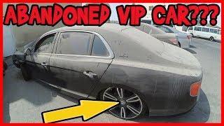 ABANDONED LUXURY CARS IN DUBAI. ABANDONED BENTLEY. VIP CAR