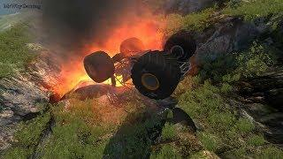 EXTREME OFF ROAD CRASHES - Cars, Trucks, School Buss Fall From The Mountain Top - Beamng Drive #453