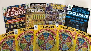 Video 103 - Money Spinners, Full Of 500's, Exclusive, Luxury Lines Scratchcards????