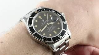 Vintage Rolex Submariner 16800 Luxury Watch Review
