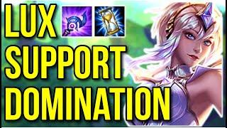 LUX SUPPORT DOMINATION | Twitch Rivals Game 1 - League of Legends