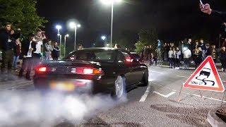 Tuner Cars Leaving a Car Show - September 2018