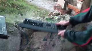 Crash test TV Novaline + radio Daewoo + nowe klawiatury
