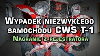 Wypadek niezwykłego samochodu CWS T-1 --- NAGRANIE Z REJESTRATORA