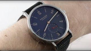 NOMOS Glashutte Ahoi Atlantik Datum (553) Atlantic Blue / Blau Luxury Watch Review