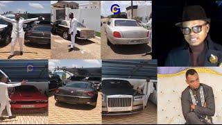 Obofour displays fleets/convoys of luxurious cars to church..Ei Obofour dey give Obinim pressure ???