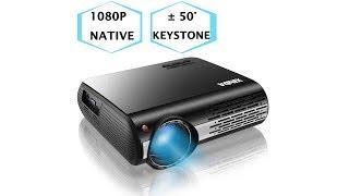1080P Projector,XINDA 4500 Lux Native HD 1080P Projector