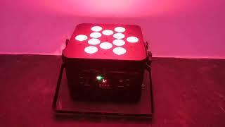 12*10W 15W 18W RGBWA+UV 6IN1 Hex Multi-angle Wireless Battery LED Par Light (LP040)