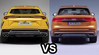 2019 Audi Q8 Vs 2019 Lamborghini URUS - The World's Luxury Coupe SUV's!
