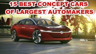 15 BEST CONCEPT CARS OF LARGEST AUTOMAKERS