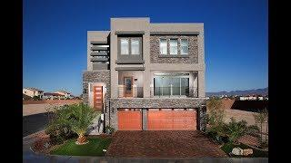 MyHeaven Modern Luxury Las Vegas Tour: The $526,500 3-story Madden Model Home by American West Homes