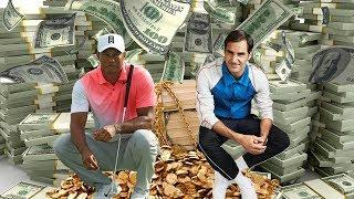 Tiger Woods vs Roger Federer - Rich Life, Net Worth 2018. Who is richer?