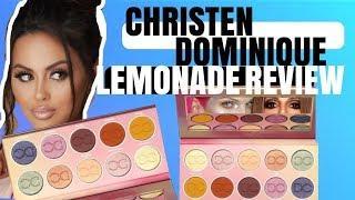 CHRISTEN DOMINIQUE LEMONADE PALETTE REVIEW