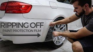 Removing Paint Protection Film from my M3