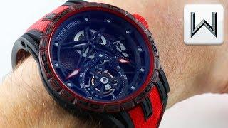 2018 ROGER DUBUIS FLYING TOURBILLON Excalibur Spider Carbon Skeleton RDDBEX0572 Luxury Watch Review