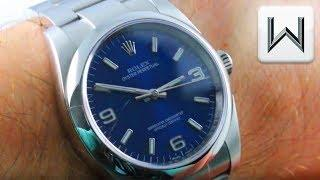 Rolex Oyster Perpetual 36 Explorer Dial Blue 116000 Luxury Watch Review