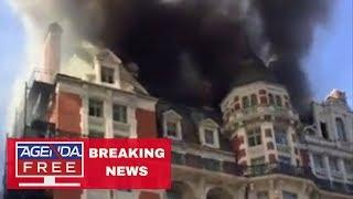 Fire at Luxury Hotel in London - LIVE BREAKING NEWS COVERAGE 6/6/18