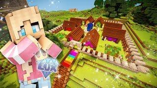 RAINBOW VILLAGE OF DREAMS! Minecraft: Lux SMP (Ep. 11)????