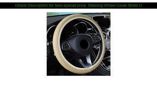 Steering Wheel Cover Braid On The Steering Wheel Cover Cubre Volante Auto Car Wheel Cover Car Acce