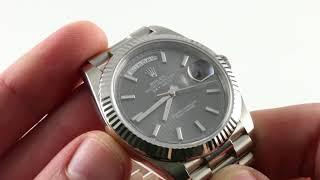 Rolex Oyster Perpetual Day Date 40 Ref. 228239 Luxury Watch Review