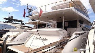 2019 Azimut 25 Metri Luxury Yacht - Deck and Interior Walkaround - 2018 Cannes Yachting Festival
