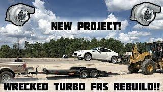 Rebuilding a Wrecked Turbo Scion FRS Part 1