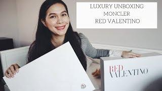LUXURY UNBOXING MONCLER & RED VALENTINO l CATHERINE HA