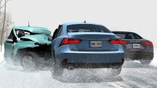 Low Speed Winter Car Crashes Compilation - BeamNG.Drive