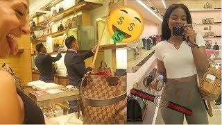 LUXURY SHOPPING IN GUCCI & LOUIS VUITTON + LIT BEACH DAY!!