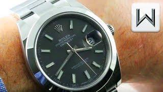 Rolex Datejust 41 DARK RHODIUM / Datejust 41mm 126300 Luxury Watch Review