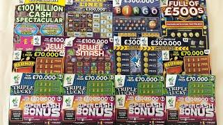 Video 136 - Full Of 500's, Cash Spectacular, Luxury Lines, Bingo...Scratchcards????