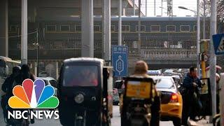 Kim Jong Un's Luxury Train Rolls Out Of Beijing After China Talks | NBC News