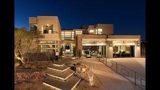 $2,200,000 Summerlin NV: Award-Winning Luxury Modern Model Home in White | Silver Ridge 2