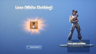 "*UNLOCKING* WHITE ""LUXE"" SKIN (TIER 100 LUXE OUTFIT) + ""MASTER KEY"" SKIN GAMEPLAY 