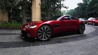 Aston Martin Luxury Sports Car self drives to The Ritz-Carlton, Bangalore - City Centre Luxury Hotel